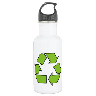 RECYCLE SIGN - Green Belt recycle symbol 532 Ml Water Bottle