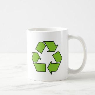 RECYCLE SIGN - Green Belt recycle symbol Basic White Mug