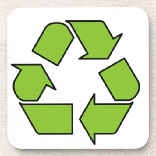 RECYCLE SIGN - Green Belt recycle symbol Coaster