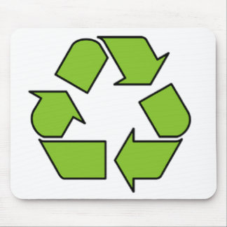 RECYCLE SIGN - Green Belt recycle symbol Mouse Pad