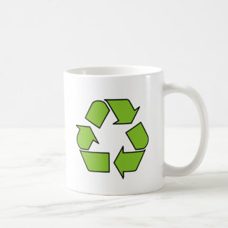 RECYCLE SIGN - Green Belt recycle symbol Coffee Mug