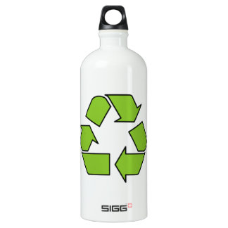 RECYCLE SIGN - Green Belt recycle symbol SIGG Traveller 1.0L Water Bottle