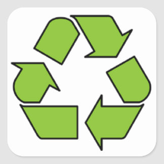 RECYCLE SIGN - Green Belt recycle symbol Stickers