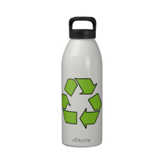 RECYCLE SIGN - Green Belt recycle symbol Drinking Bottle
