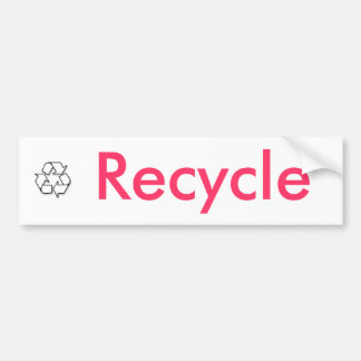 recycle sign, Recycle Bumper Sticker
