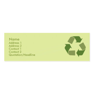 Recycle - Skinny Pack Of Skinny Business Cards