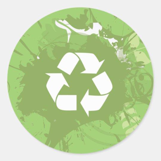 Recycle Splat Organic Planet Stickers