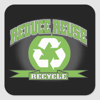 Recycle Sport Style Square Sticker