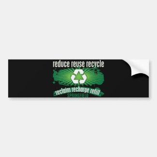 Recycle Springfield Bumper Sticker