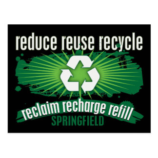 Recycle Springfield Postcard