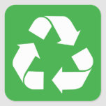 Recycle Square Sticker