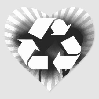 Recycle Heart Stickers