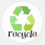 Recycle Symbol! Classic Round Sticker