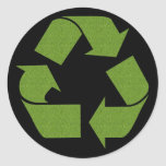 Recycle Symbol Grass Stickers