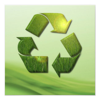 Recycle Symbol Invitation