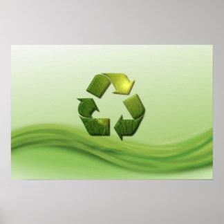 Recycle Symbol Poster Print
