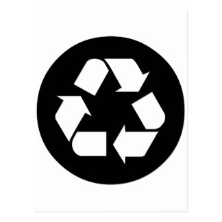 Recycle Symbol - Reduce, Reuse, Recycle Post Card