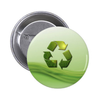 Recycle Symbol Round Button