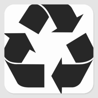 Recycle Symbol Square Stickers