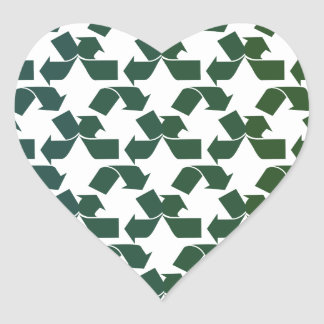 Recycle Symbol Heart Sticker