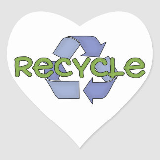 Recycle T-shirts and Gifts Heart Sticker
