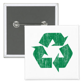 Recycle T-Shirts For Earth Day 15 Cm Square Badge