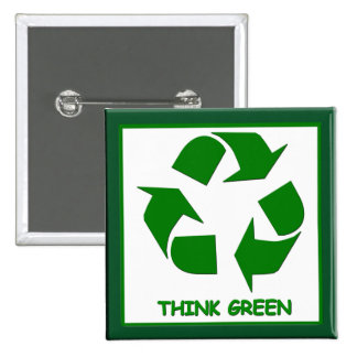 Recycle Think Green Button