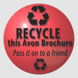 RECYCLE THIS BROCHURE CLASSIC ROUND STICKER