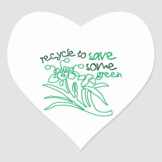 Recycle To Save Heart Sticker