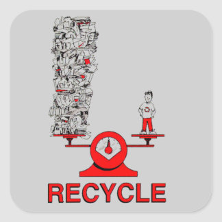Recycle Trash Sticker
