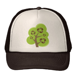 Recycle Tree Green Hats