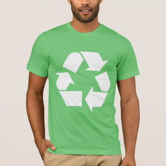 Recycle White on Green T-Shirt