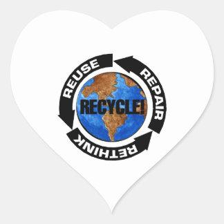 Recycle Worldt Heart Sticker