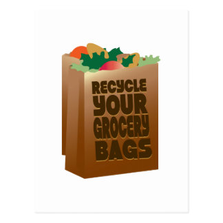 Recycle Your Grocery Bags Postcard