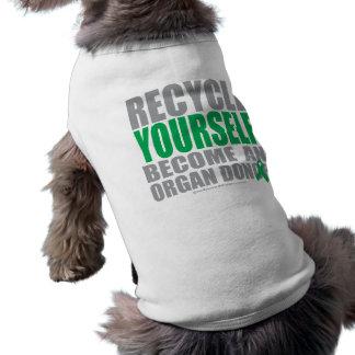 Recycle Yourself Organ Donor Sleeveless Dog Shirt