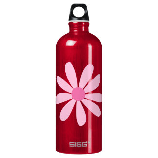 Recycled Aluminum - Big Pink Daisy Water Bottle