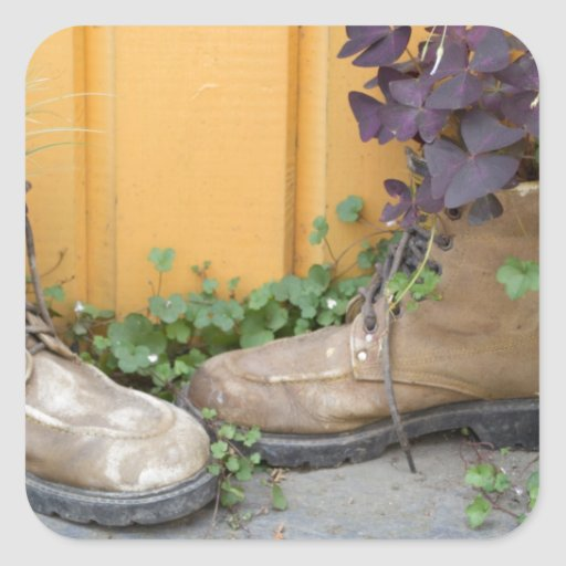 Recycled Boots Make Good Planters Sticker