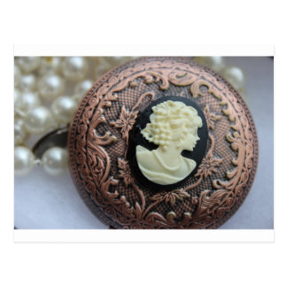 Recycled Cameo Postcard