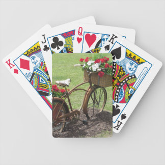 recycled flower bicycle bicycle playing cards