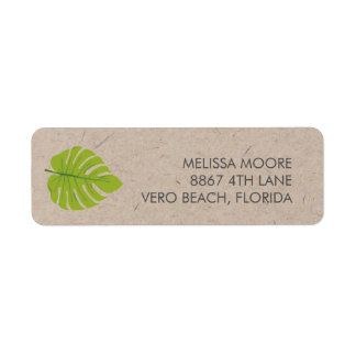 Recycled Green Leaf Return Address Return Address Label