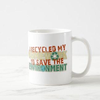 Recycled Homework Coffee Mugs