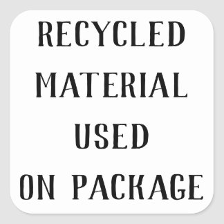 Recycled Material Repurpose Shipping Mailings Square Sticker