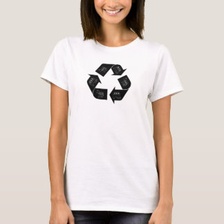 """RECYCLED POLITICS"" Satire Mock Shirt Women's"