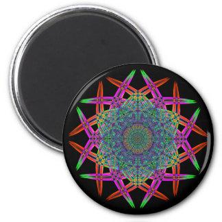 Recycled Smoke Art  (1) 6 Cm Round Magnet