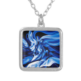 Recycled Smoke Art Design Silver Plated Necklace