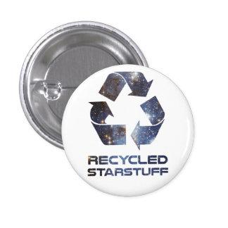 Recycled Star Stuff 3 Cm Round Badge