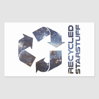 Recycled Star Stuff Rectangular Sticker
