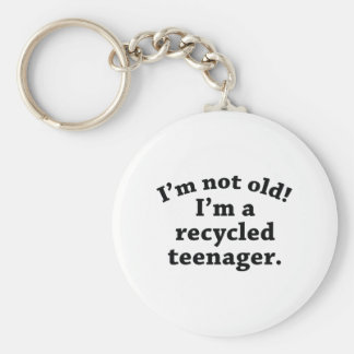Recycled Teenager Basic Round Button Key Ring
