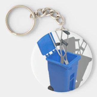 RecycledCrutches082010 Basic Round Button Key Ring