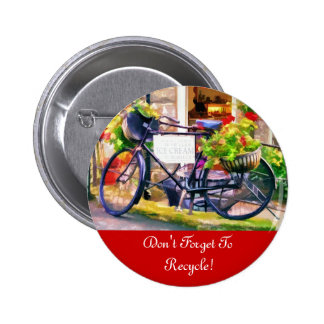 RECYCLING 6 CM ROUND BADGE